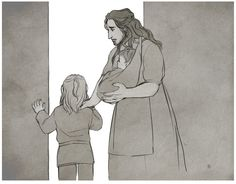 """""""Mum.... Is Uncle going to come home?"""" """"Of-of course love! Why would he not come home?"""" """"Oh. I was just curious. Because I don't want him to come home like daddy."""" """"Fili... love... come on inside. Help me with Kili..."""" -Fili"""