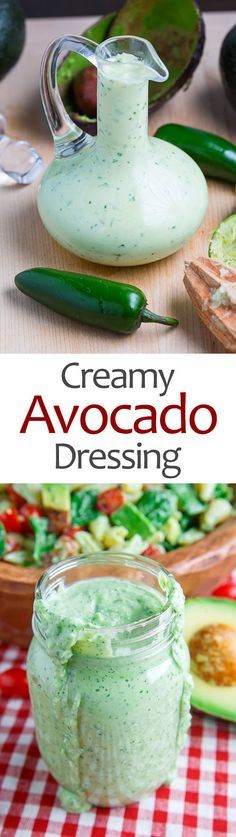 Creamy Avocado Dressing (aka Guacamole Buttermilk Dressing)