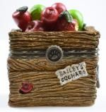"""Boyds Bears Candice's Apple Crate With """"Doc"""" McNibble - Resin Treasure Box"""