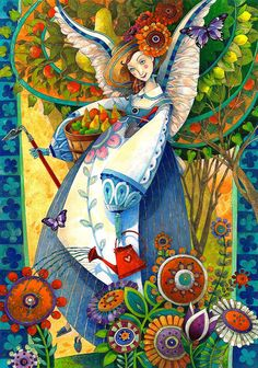 Be still my beating heart - amazing Painting!!  angelic harvesting by artmeister on Etsy
