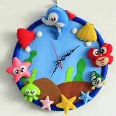 Children's/kid's Room Home Decoration DIY Cartoon Ocean Wall Clocks Wall Clocks