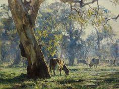 Por amor al arte: John McCartin Australian Painting, Australian Artists, Landscape Art, Landscape Paintings, Long Painting, Royal Art, Painting Competition, Cow Art, Animal Paintings