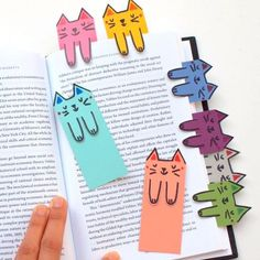 Peek-a-boo Cat Bookmarks