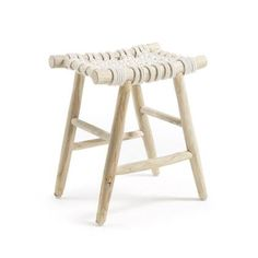 Kave Home Eclipse Voetenbank Rattan Stool, Bar Stool Chairs, Bar Stools, Cute Furniture, Furniture Design, Madeira Natural, Style Boho, Adirondack Chairs For Sale, Minimalist Home Interior