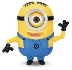Despicable Me Minion Stuart Laughing Action Figure Over 45 Minion sayings/giggles in Original voice Press his pocket to hear Stuart talk with funny expressions Press his pocket again or move his head for another response/expression. LOL Mode – quickly press Stuart's pocket 6 times to activate his Laugh Out Loud mode; Press the pocket again or move his head to hear him laugh out loud. : :  http://www.reallygreatstuffonline.com/despicable-me-minion-stuart-laughing-action-figure/