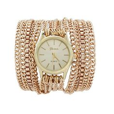 Cheap watch roma, Buy Quality watch steel bracelet directly from China watch winner Suppliers: Fashion Punk Style Watches Women Sparkling Quartz Wrist Watch Silver/Gold Manual Link Chain Bracelet Watches Montre Femme Women's Dress Watches, Women's Watches, Gold Watches Women, Cheap Bracelets, Hip Hop Fashion, Style Fashion, Luxury Fashion, Fashion Design, Quartz Necklace