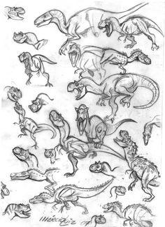 Dinosaurs 03 by marciolcastro.deviantart.com on @DeviantArt