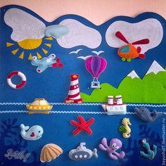 Idea mural en fieltro para el cuarto donde se cuidan a los pequeñitos (✿◠‿◠)