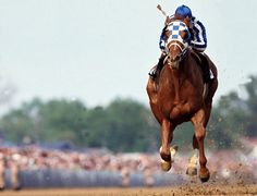 The fastest running of the Kentucky Derby? Yeah, you probably know this one, even if you don't realize it. It was the famous Secretariat, who won the Derby in 1973 with a record time of 1:59:24 seconds. That record has now stood for 40 years. And the craziest thing about it is that Secretariat actually got faster as the race went on, which almost never happens. Pictured, Secretariat-1973-Kentucky-Derby