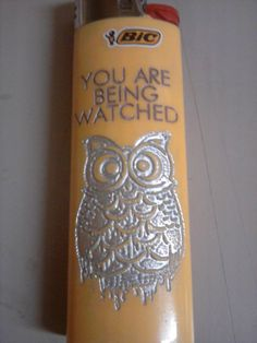 I don't smoke or anything, i just love owls. and scented candles. haha