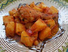 Pui cu cartofi si rosii la cuptor - Bunătăți din bucătăria Gicuței Sweet Potato, Food And Drink, Potatoes, Vegetables, Romanian Recipes, Fine Dining, Potato, Veggies, Vegetable Recipes