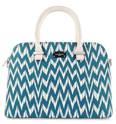 Paul's Boutique Spring / Summer 2015 | Maisy handheld bag in turquoise zig zag print. www.paulsboutique.com x