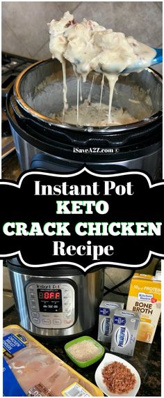 Instant Pot Keto Crack Chicken Recipe - easy, keto recipe and delish! via @isavea2z