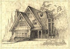 House 300 Shaded Perspective Sketch by Built4ever.deviantart.com on @DeviantArt