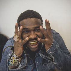 Asap Ferg with the Goldie grillz