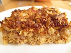 Jablkový koláč z ovsených vločiek a orechovou posýpkou Ham, Risotto, Macaroni And Cheese, Oatmeal, Paleo, Healthy Eating, Gluten Free, Breakfast, Ethnic Recipes