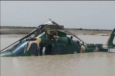 Photos: NAF recovers helicopter crashed into lagoon
