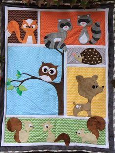 Forest Friends Quilt Pattern SMM-082 (advanced beginner, intermediate, baby) I'm so going to make this!!