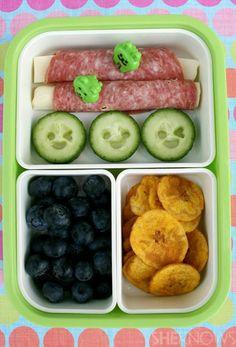 healthy+bento+box+snacks | Salami & Cheese Rolls bento box lunch