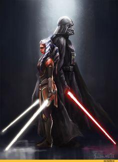 Асока Тано,Clone Wars,SW сериалы,Звездные Войны,Star Wars,фэндомы,Дарт Вейдер,SW Персонажи,Star Wars Rebels,sun-stark