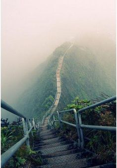 The Ha'ikū Stairs, also known as the Stairway to Heaven or Haiku Ladder, is a steep hiking trail on the island of Oahu.