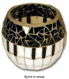 Mosaic Keyboard Candle Ball