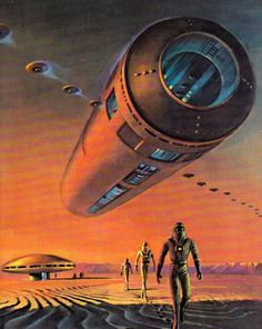 Scifi Art An unforgettable Bruce Pennington illustration for a reprint of the Brian Aldiss novel 'Equator' One of a number of iconic New English Library covers by Pennington in the early