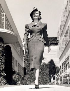 Florence Rice in Gilbert Adrian suit