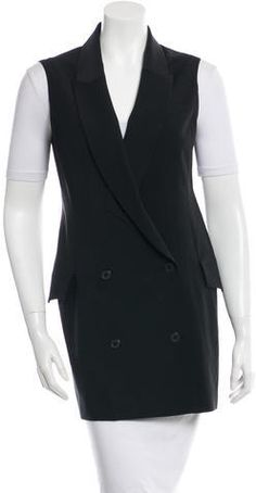 Alexander Wang Double-Breasted Crepe Vest