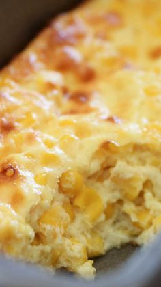 Easy Baked Corn 1 cup milk 2 Tablespoons butter 1 Tablespoon sugar 2 Tbsp. flour ½ tsp. salt 2 (15 oz.) can whole corn, drained 2 eggs, well-beaten