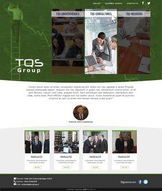 Maqueta de Sitio Web para Grupo TQS