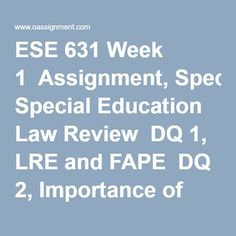 Special Education a reaction paper