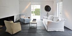 Brigitte sofa with slipcover in Linen Michelene