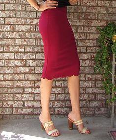 Love this éloges Burgundy Pencil Skirt by éloges on #zulily! #zulilyfinds
