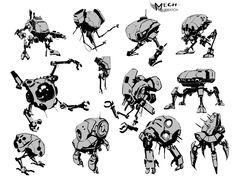 Mech Sketches, Al Jerek Torrijas on ArtStation at http://www.artstation.com/artwork/mech-sketches