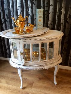 French Provincial Style Oval Drinks Cabinet