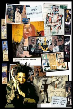 A tribute to Basquiat. From: Perspectives on art by Henk van Os, via Behance