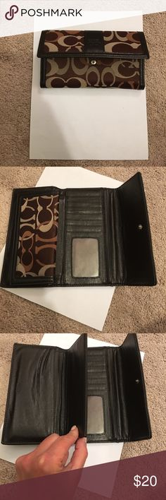 Coach wallet Coach wallet. Like new. Laid on a standard piece of printing paper for size. Brown Coach Bags Wallets