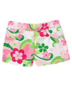 Gymboree Floral Mermaid Pink Green Flower Shorts Top Size 3T New w/ Tags NWT