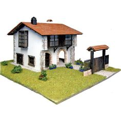 Chalet en Kit: Casa comillas // Cottage Kit: Comillas House Gazebo, Outdoor Structures, Kit, Mansions, House Styles, Home Decor, Step By Step Instructions, Quotation Marks, Chalets