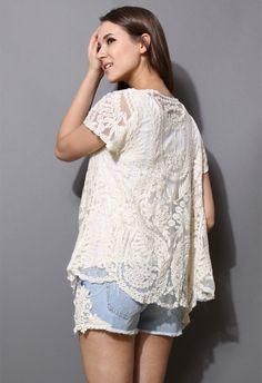 Delicacy Crochet Lace Cardigan -