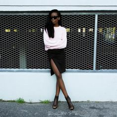 Thigh high split skirt // Sylvie Mus