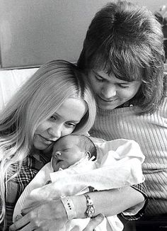 Agnetha with Björn and their daughter Linda in 1973