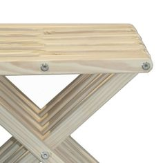 Stool X30 - Bride's Veil The Stool X30 is attractive, functional, durable, eco friendly and 100% made in the USA! This sturdy sitting stool arrives partially assembled at your home needing only a final touch to be ready for use! Conceived by the Brazilian designer Ignacio Santos, the Stool X30 is crafted from Eco Friendly Premium Yellow Pine wood from Alabama, stainless steel and built to last a life time if well taken care of.