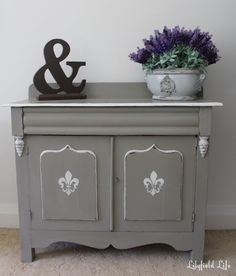 DIY Chalk Paint Recipe and a Dresser Makeover - Classy Clutter