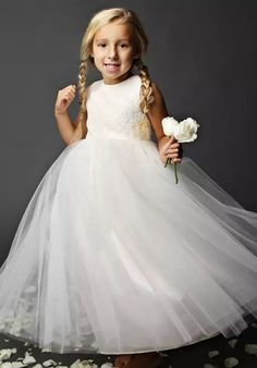 1a22471f91cb FATTIEPIE snow Ivory Flower Girl Dress Ivory Flower Girl Dresses, Lace Flower  Girls, White