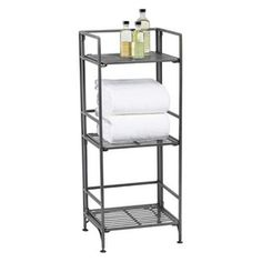I think this is what might work best ....3-Shelf Iron Folding Bookcase