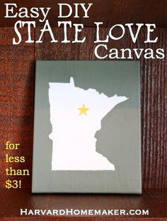 State Canvas_Easy DIY Minnesota Wall Art