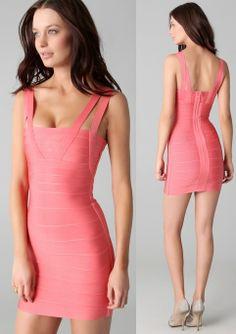 pink fashion ,evenning dress #herveleger #hervelegerdress #legersale