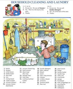 Household cleaning and laundry